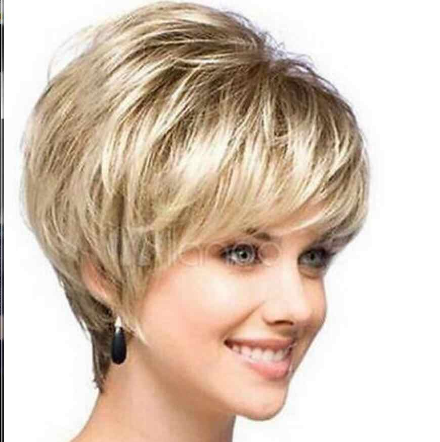 Wig New sexy ladies short Blonde Natural Hair wigs Free Shipping