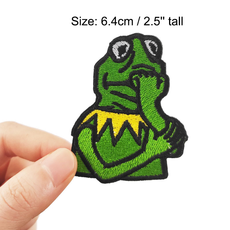 Kermit the Frog Iron Sew On Patch Badge Fancy Dress Tshirt Transfer Applique