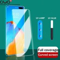 Protectores de pantalla de vidrio templado para Huawei Mate 40 30 20 P20 P40 P30 Pro Plus Nova 7 Pro, película protectora para honor 30 Pro Plus cristal templado mamparas protectoras accesorios del teléfono móvil