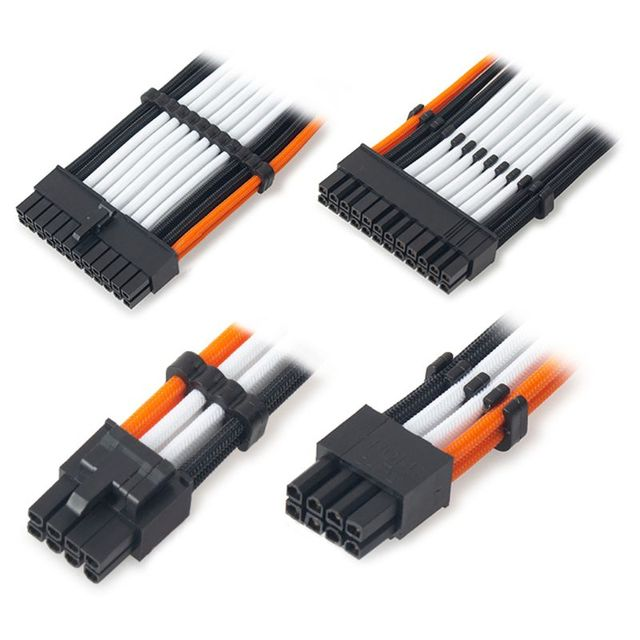 16Pcs/Set PP Cable Comb/Clamp/Clip/Organizer/Dresser for 2.5-3.2mm PC Power Cables Wiring 4/6/8/24 Pin Computer Cable Manager