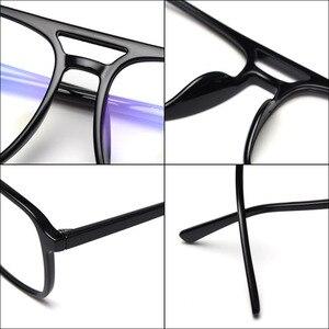 Image 5 - BCLEAR Ultra Light TR90 Retro Black Transparen Double Beam Men Glasses Frames For Prescription Eyeglasses Optical Eyewear H8024