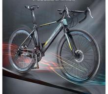 Rower szosowy bicicleta 700C * 23 rower szosowy mężczyzna i kobieta rower 27 prędkości hamulce tarczowe tanie tanio kalosse Unisex Ze stopu aluminium ze stopu aluminium 150-200 cm 14 kg Podwójne hamulce tarczowe 0 1 m3 Koralik pedału