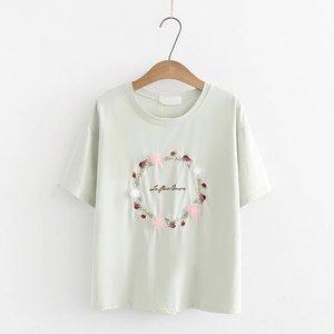 100% хлопковая футболка с принтом, Повседневная футболка с коротким рукавом, Женская свободная футболка с круглым вырезом, футболка