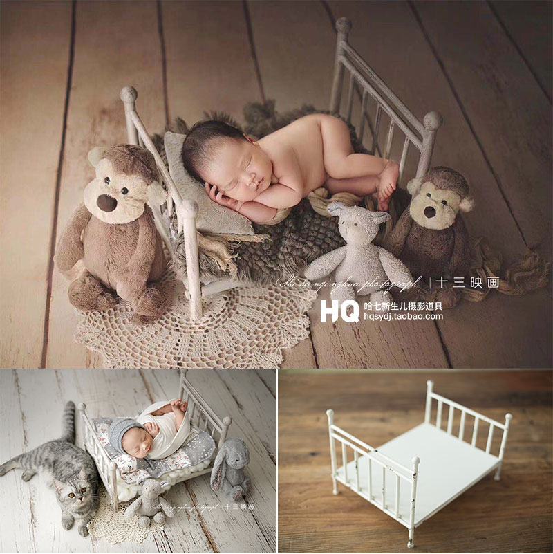 Newborn Photography Accessories  Basket Bed Baby Photoshooting Props Infant Photo Studio  Crib Basket Fotografia Accessorio