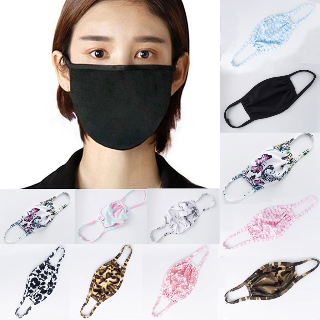 Men And Women Adult Print Washable Anti Dust Anti-ultraviolet Breathable Mask Breathable Respirator Mascarillas Masque