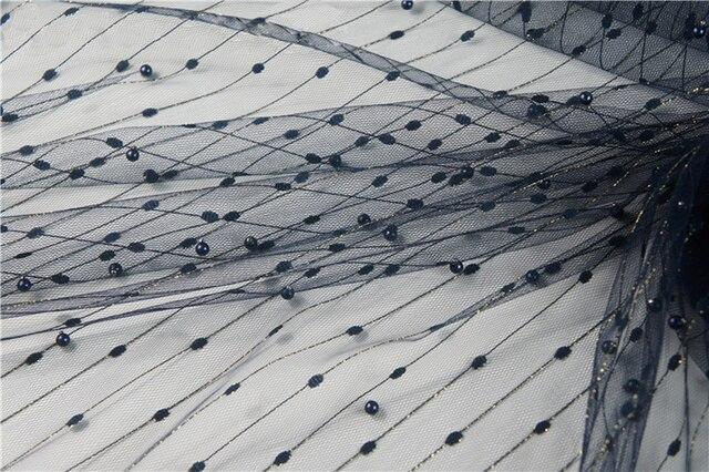160CM X100CM Sequin perles voile tissu Organza maille or ligne pour robe fête jupes scène mariage décoration tissus Handmake