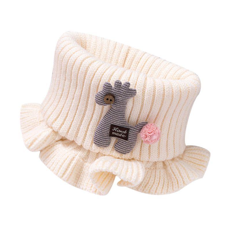 Шарф для маленьких мальчиков и девочек; зимний теплый шарф с рисунком лошади; плотные шарфы с воротником для новорожденных; шейный платок для малышей; - Цвет: W