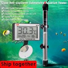 Mini Aquarium Heater 20 34°c 100W Submersible Fish Tank Heating Rod 220 240V Aquarium Thermometer Fish Tank Aquarium Accessories