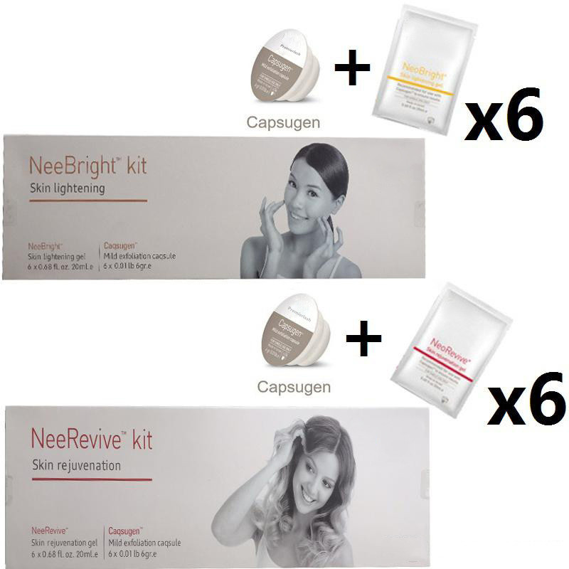 Nee Bright Kit (Skin Lightening)+Noe Revive Kit (Skin Rejuvenation) Exfoliation Consumable For Oxygen Machine