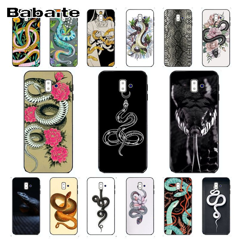 case For Galaxy j6 2018 cute snake Cute Phone Accessories Case For samsung Galaxy j6 plus A6 A8 A9 A10 A30 A50 Coque Shell