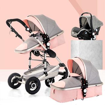 Wózek dziecięcy 3 w 1 wózek wielofunkcyjny wózek wysokiego krajobrazu wózek dziecięcy do wózka dla dziecka noworodek wózek dla dziecka wózek spacerowy tanie i dobre opinie Magic ZC 0-3 M 4-6 M 7-9 M 10-12 M 13-18 M 19-24 M 2-3Y 4-6Y Baby stroller 3 in 1 85 kg 0-36 month