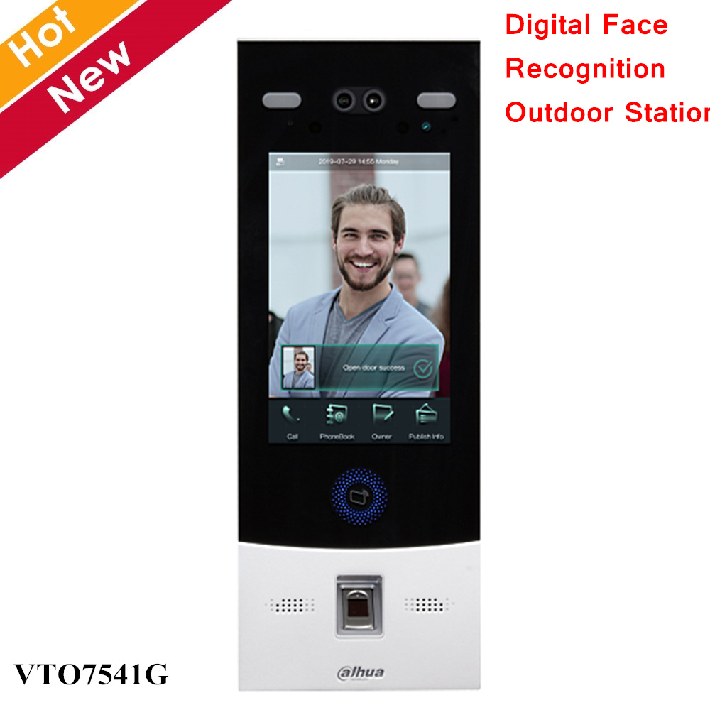 Dahua IP Outdoor Station VTO7541G Digital Face Recognition 8 Inch Touch Screen Support Face Fingerprint Password Card Unlock
