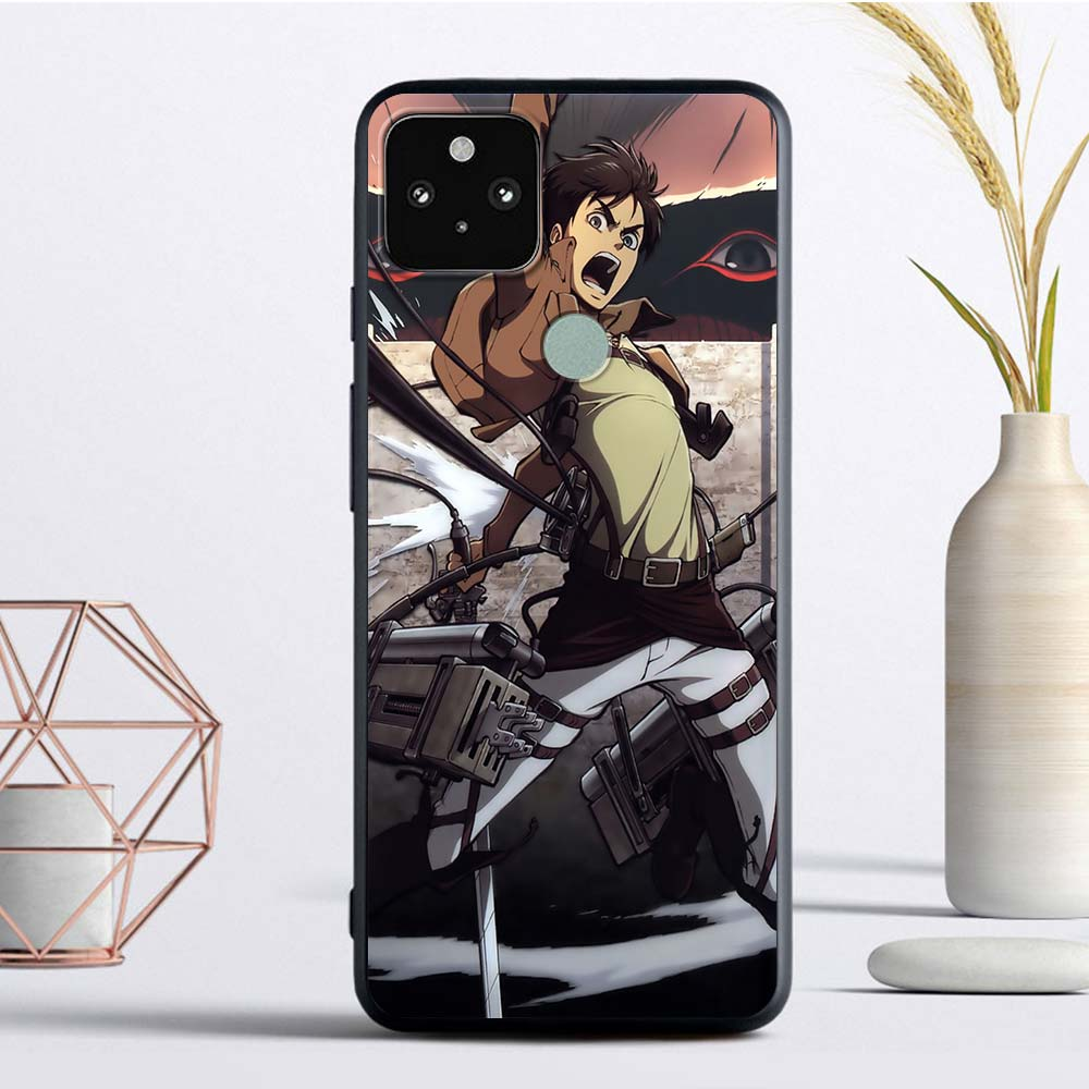 Attack On Titan Silicon Phone Case For Google Pixel 4 XL 4A 4G Fundas For Pixel 5 Soft TPU Cover Back Coque Cell Capas Shell Bag