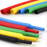 5 meters 2:1 Black Clear Red White Yellow Green Blue 1mm 2mm 3mm 4mm 5mm 6mm Heat Shrink Heatshrink Tubing Tube Wire