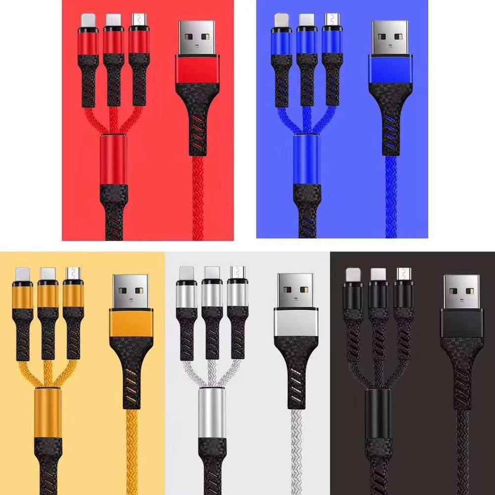 3 で 1 マイクロ Usb タイプ C 充電ケーブルマルチ Usb ポート複数の Usb 充電ケーブル Usbc 携帯電話ケーブルサムスン