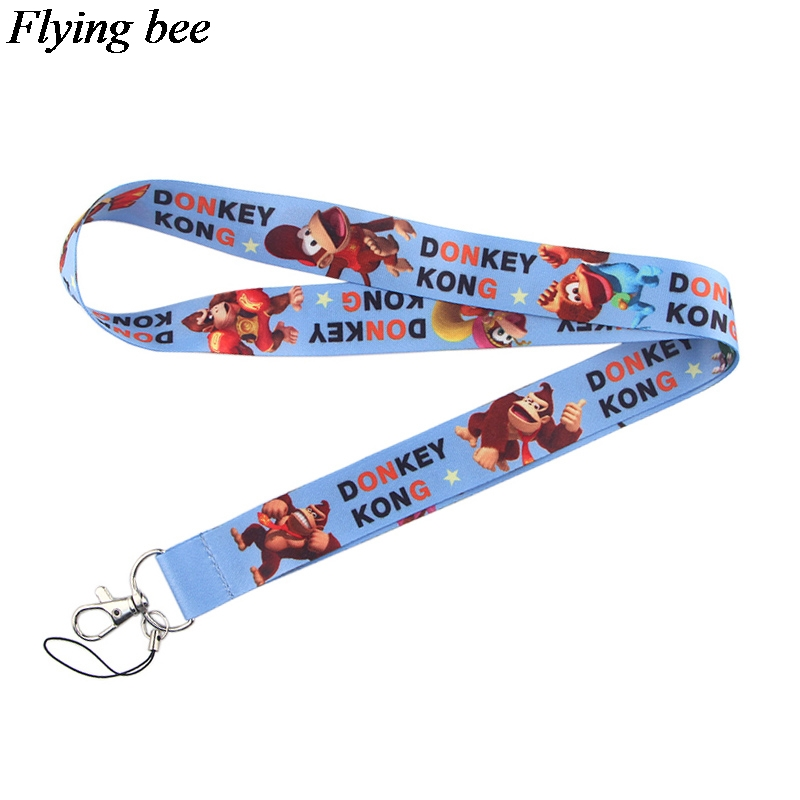 Flyingbee Donkey Keychain Cartoon Cute Phone Lanyard Women Fashion Strap Neck Lanyards For ID Card Phone Keys X0539
