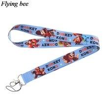 Flyingbee donkey kong Keychain Cartoon Cute Phone Lanyard Women Fashion Strap Neck Lanyards for ID Card Keys X0539