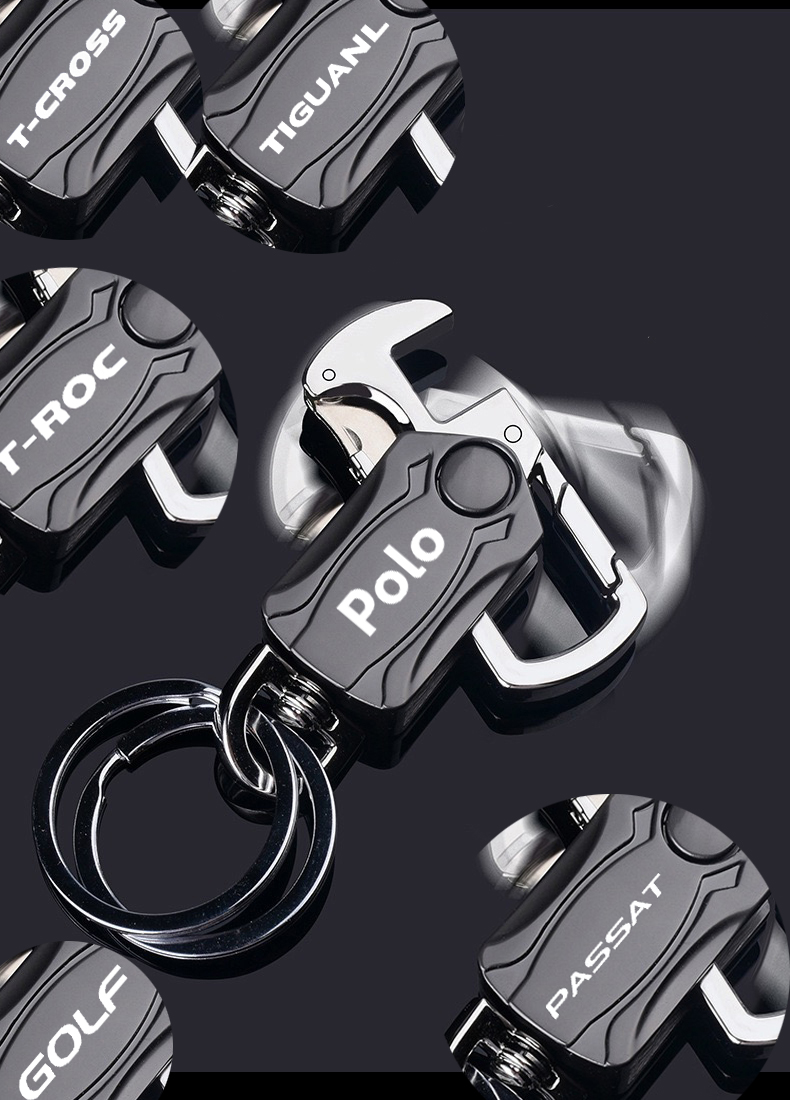 Alloy Keyring Multifunction Car Keychains for volkswagen vw golf 4 mk4 polo sedan tiguan passat b5 T CROSS T ROC car accesorios|Key Rings| - AliExpress