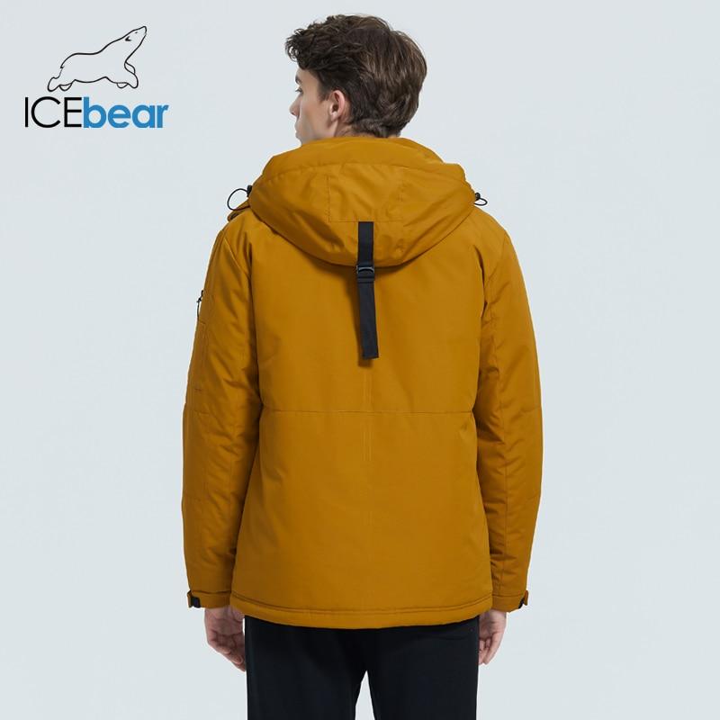 ICEbear 2020 autumn and winter new men's hooded coat warm men's cotton jacket fashion men's clothing MWD20853D 4
