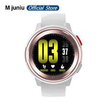 Mjuniu DT68 akıllı İzle erkekler IP68 su geçirmez 1.2 inç tam dokunmatik ekran 30 gün uzun bekleme ekg iphone için smartwatch samsung