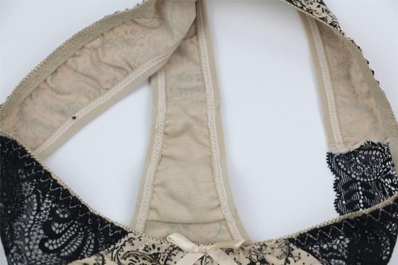 CXZD New lingerie bra ultrathin lace bralette sexy underwear set women's underwear sexy bra set (35)