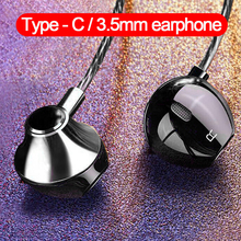 Headset Earphones Wired-Control Bass Huawei Earbuds Stereo Xiaomi Samsung In-Ear