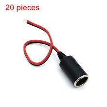 Enchufe de cigarrillo de coche, cargador de coche hembra, encendedor de cigarrillos, accesorio de coche, enchufe adaptador de enchufe de 12/24 V