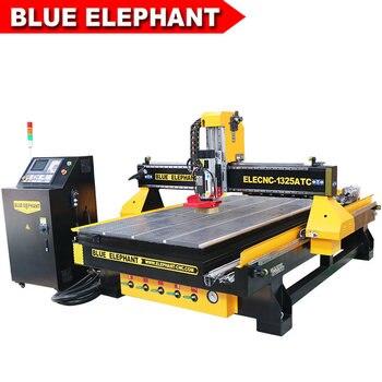 Elefante azul CNC 1325 4 ejes atc carpintería enrutador más popular 3d 4d cnc enrutador máquina para puerta de madera escritorio silla patas tallado