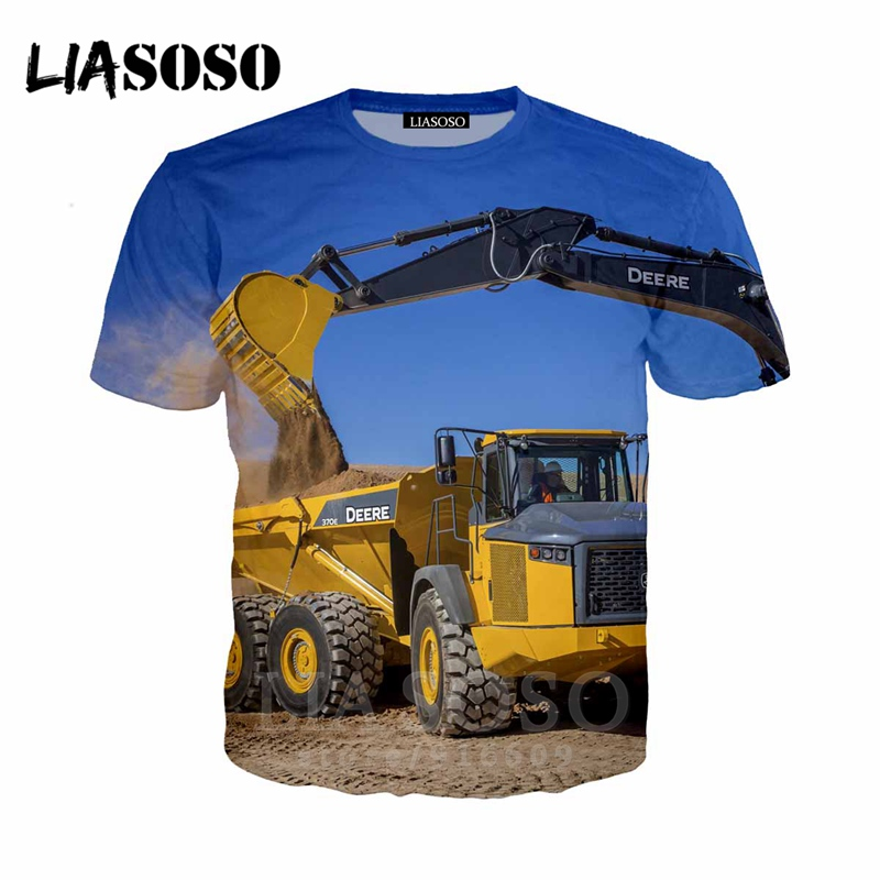 Digger T Shirt up to 5XL Excavator tractor