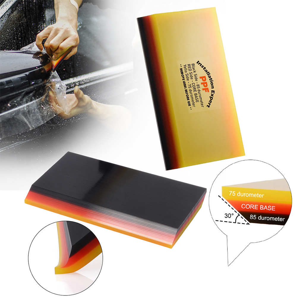 FOSHIO 30 Degree Soft PPF Rubber Squeegee Car Window Tint Protective Film Sticker Install Scraper Auto Cleaning Tool Water Wiper