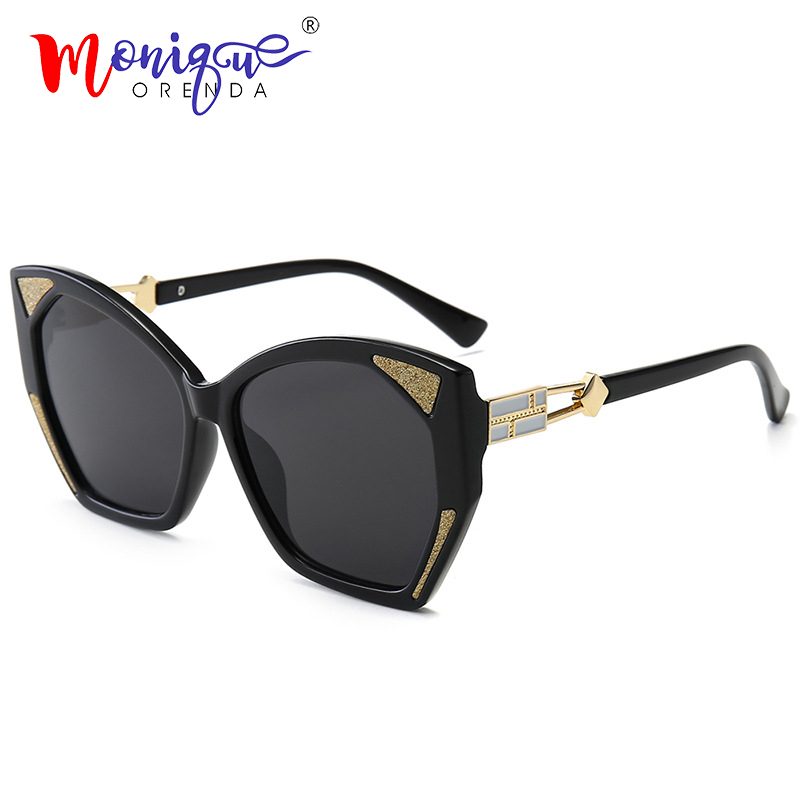 Cat-Eye-Sunglasses Bling Frame Butterfly Shades-De-Sol Leopard Vintage Designer Women Brand
