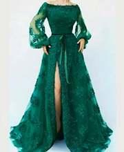 Платья для выпускного вечера 2020 сексуальный Сплит Дубай длинный