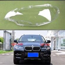 Dla BMW E71 X6 2008 2009 2010 2011 2012 2013 2014 abażur pokrywa soczewki reflektorów reflektor klosz szklany reflektory powłoki
