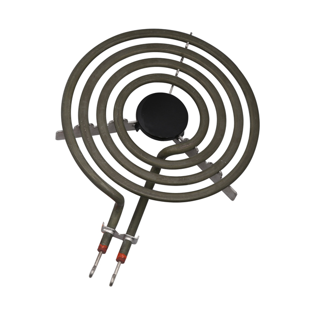 """1500W 230V 6"""" Range 304 Stainless Cooktop Stove Replacement Surface Burner 4 Rings Pancake Coil Shape Heater Tube with Tripod"""