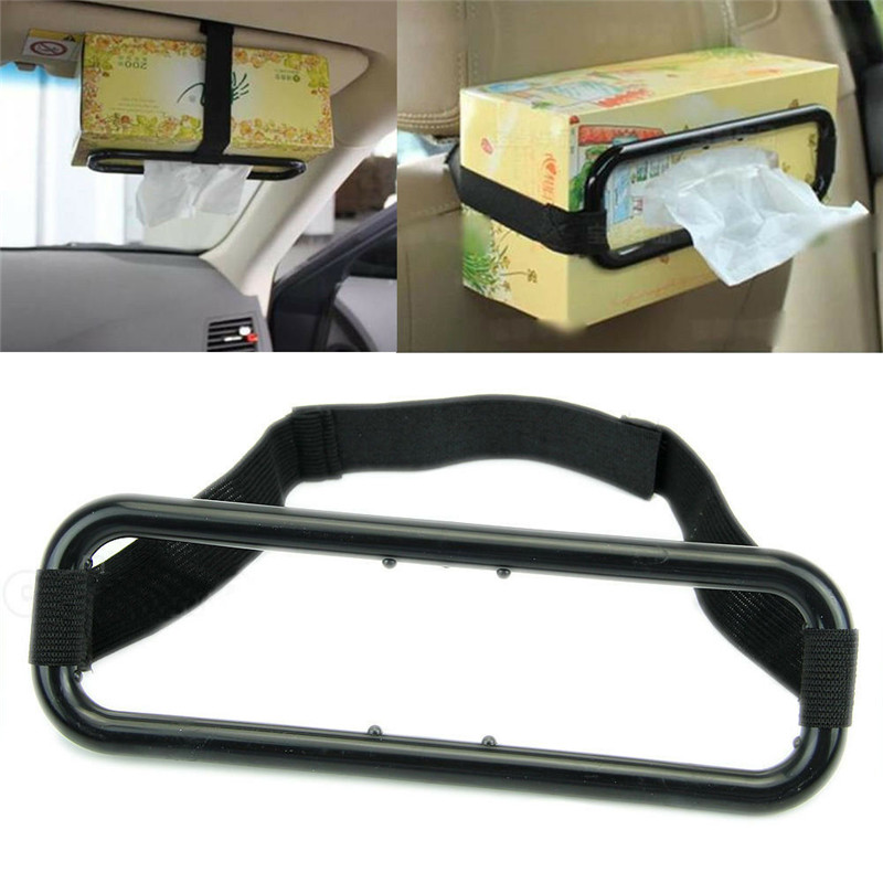 Car Sun Visor Tissue Box Holder Paper Napkin Seats Back Bracket Car Tissue Holder Car Interior General Car Accessories