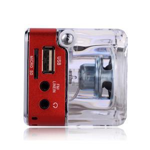 Image 4 - TT 028 רב צבעים רמקול LED תצוגה נייד מיני סטריאו רמקול USB FM SD עבור IPHONE/IPAD/IPOD/MP3/PC