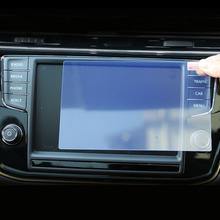 For VW Tiguan MK2 2016 2017 Tempered Glass Car Navigation Screen Protector LCD Touch Display Protector Film Protective Sticker цена 2017