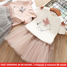 Cartoon Off Shoulder Tops Skirt Children Girl Clothing Summer Clothing Outfits 2Pcs Kids Baby Girls Clothes Set girls floral blouse kid s clothes long sleeve off shoulder tops children clothing summer girl s outfits
