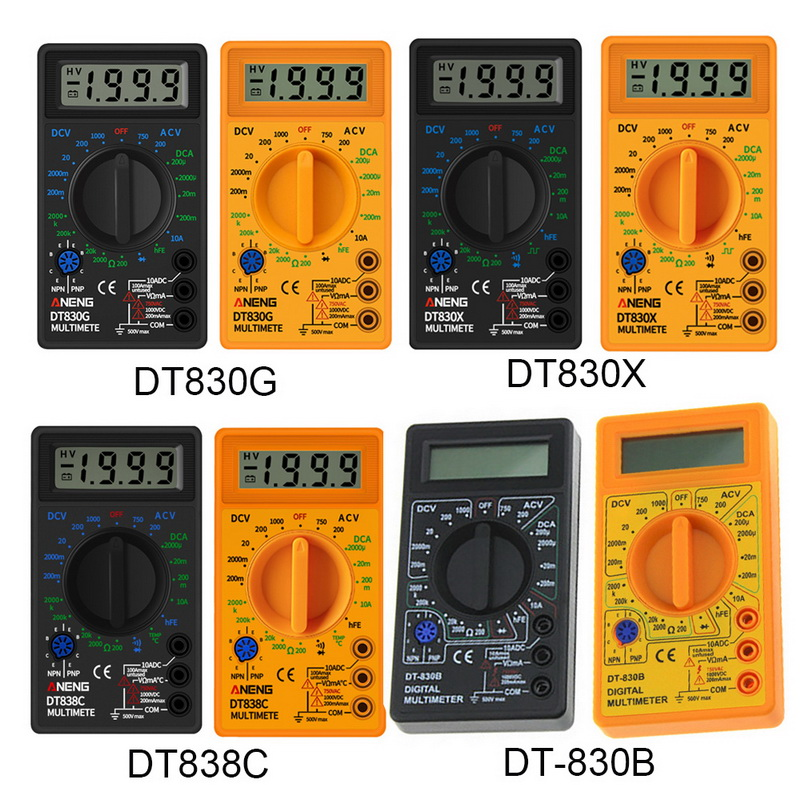 Junejour DT830B ЖК дисплей Цифровой мультиметр Вольтметр Амперметр Омметр DC10V ~ 1000V 10A AC 750V тест er тест|Мультиметры|   | АлиЭкспресс