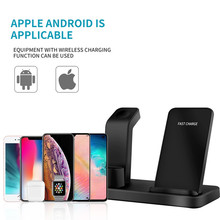 Wireless Charger Stand for iPhone 11 Pro Max XS XR X 8 Plus 3 IN 1 Fast Charge For Samsung Galaxy S10 S9/S9+ S8 Note 10 Note 9(China)
