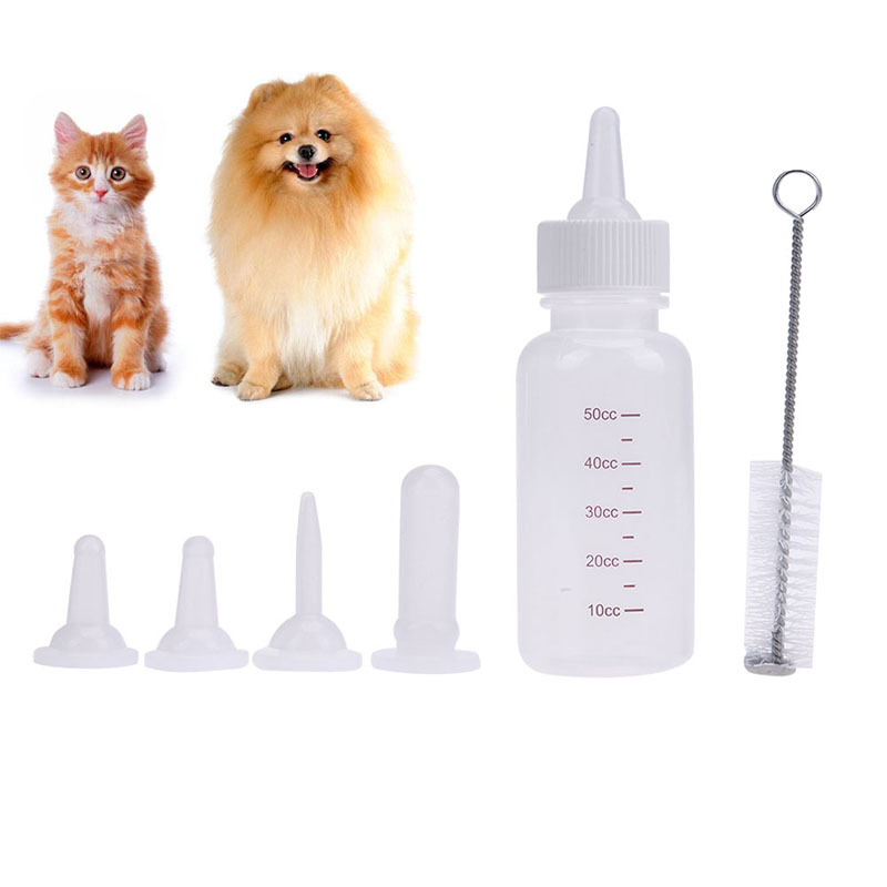 Pet Dog Cat Baby Feeding Bottle 50ML Puppy Kitten Nursing Water Milk Feeder Animal Baby Newborn Feeding Dog Cat Drinking Bottle