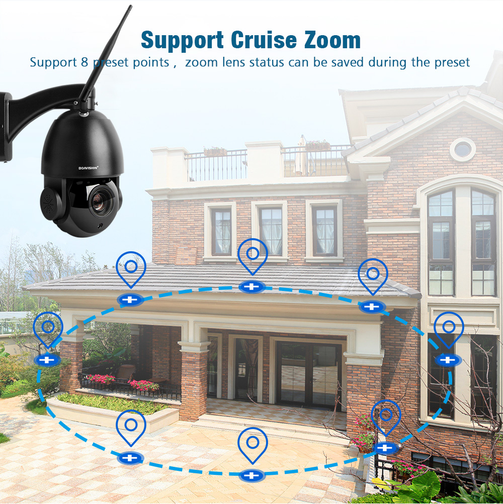 Image 5 - 1080P Wireless PTZ Dome IP Camera WIFI Outdoor 20X Optical Zoom CCTV Security Video Camera Audio Speaker 80m IR IP PTZ Cam CamHi-in Surveillance Cameras from Security & Protection