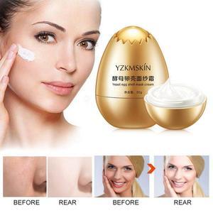 30g Egg Shell Yeast Mask Cream Peel-Off Facial Creams Remove Wrinkle Nourish Moisturizing Cream Face Skin Care Treatment TSLM1