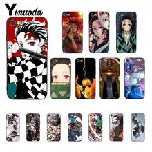 Yinuoda Anime Demon Slayer Kimetsu No Yaiba Black Soft Shell Phone Case Cover for iPhone X XS MAX 6 6S 7 7plus 8 8Plus 5 5S XR(China)