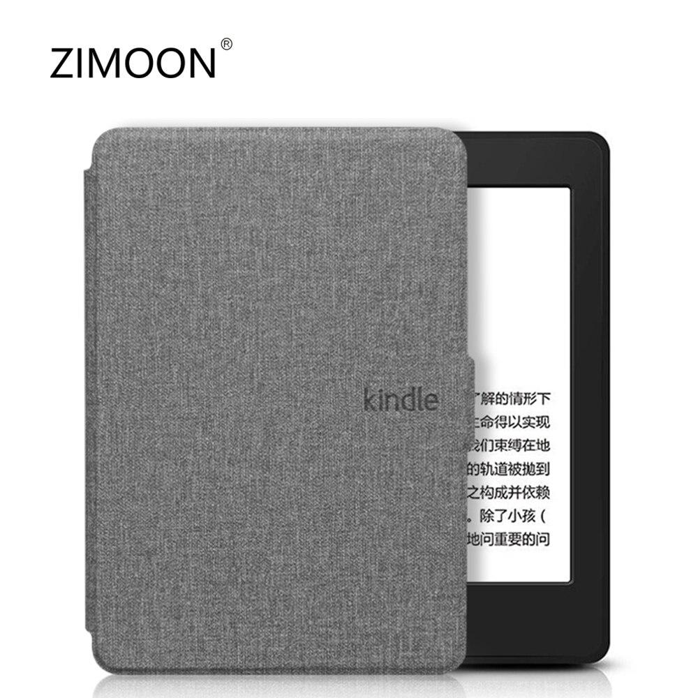 Чехол для Kindle Paperwhite 3/2, умный чехол из искусственной кожи с тканевой текстурой, жесткая задняя крышка для Kindle Paperwhite 1/2/3 DP75SDI