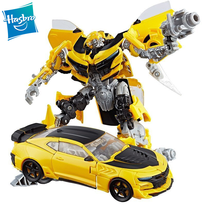Hasbro Transformers Movie 5 The Last Knight Premier Edition Deluxe Class Strafe Bumblebee Autobot Drift Crosshairs Figure Toy image