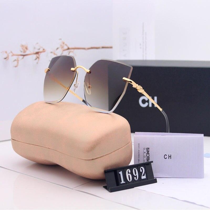 2020 новые женские поляризационные солнцезащитные очки с градиентом цвета солнцезащитные очки без оправы модные трендовые солнцезащитные о...