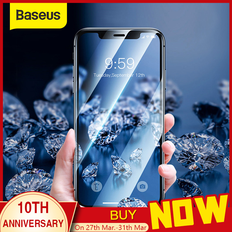 Baseus 0.23mm Full Screen Protector For IPhone 11Pro Max Ultra Thin Full Coverage Curved Tempered Glass For IPhone 11 Glass Film