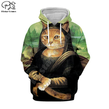 PLstar Cosmos Funny Scream Cartoon Cat Animal Tracksuit Casual 3D Print Hoodie/Sweatshirt/Jacket/shirts Men Women Harajuku S-2