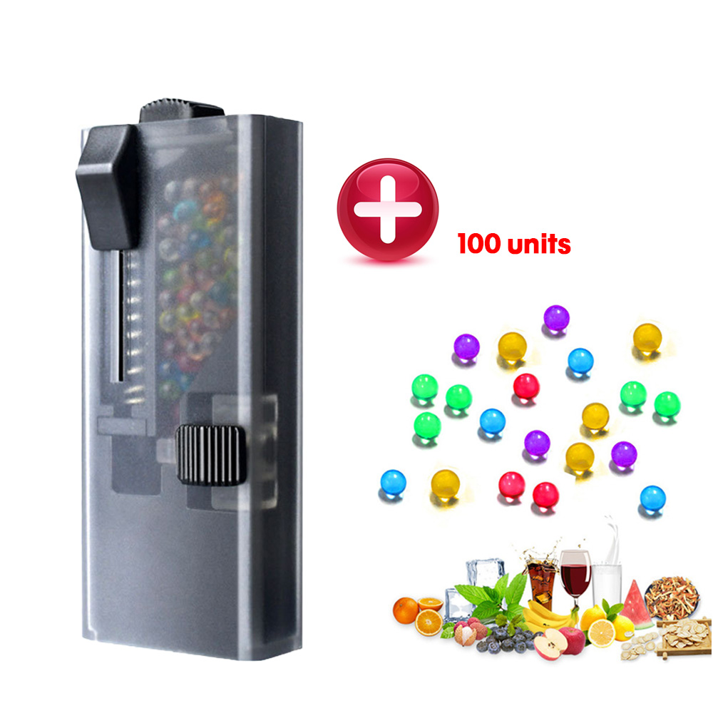 Balls for Cigarettes Holder with Push Bead Box 100pcs Mixed Bursting Aromatic Beads Fruit Flavor DIY Capsule Smoke Accessories